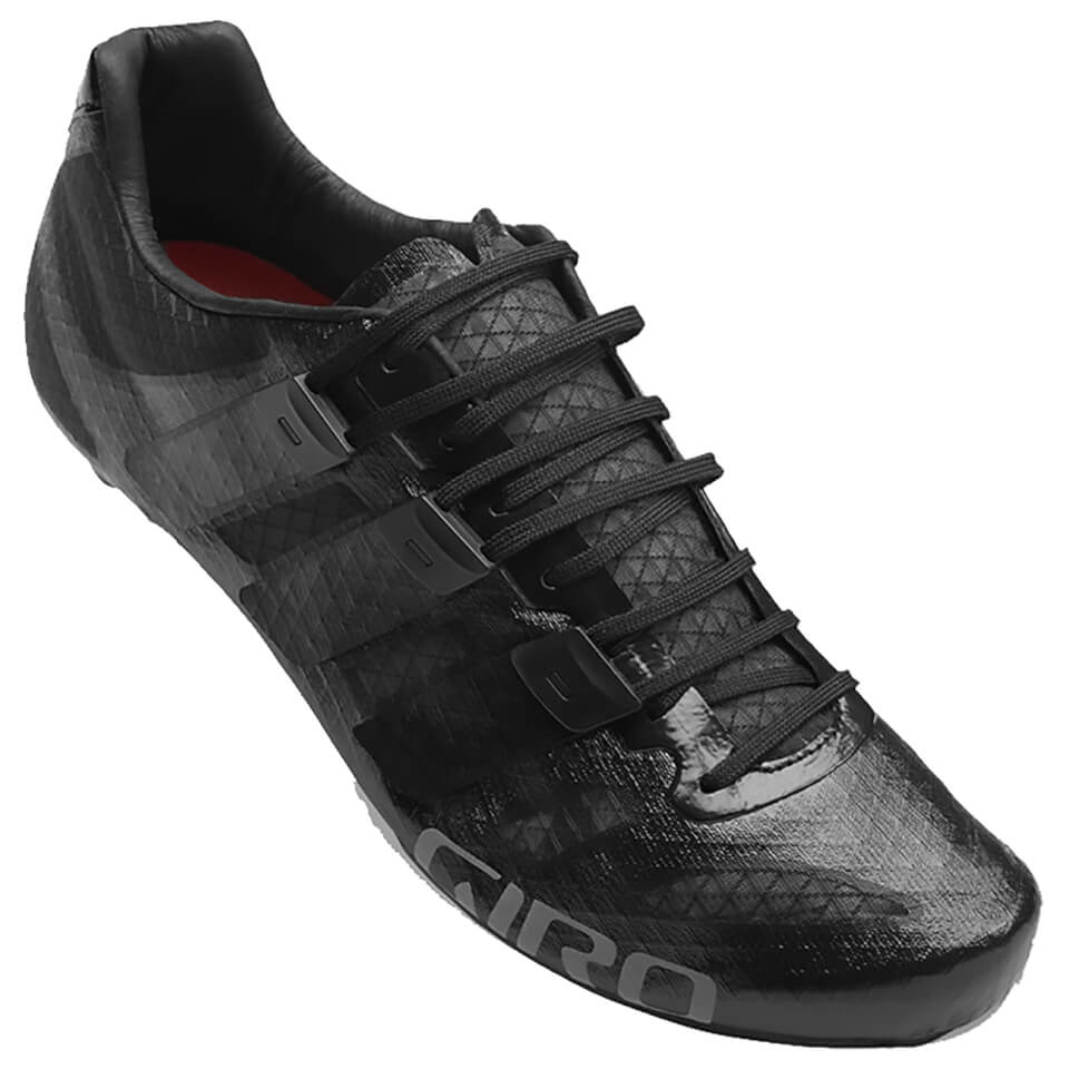 Giro Prolight Techlace Road Cycling Shoes - Black   Shoes and overlays