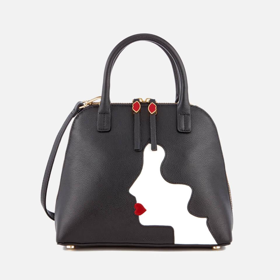 49a4f34f5a0b2 Lulu Guinness Women s Bobbi Kissing Cameo Shoulder Bag - Black