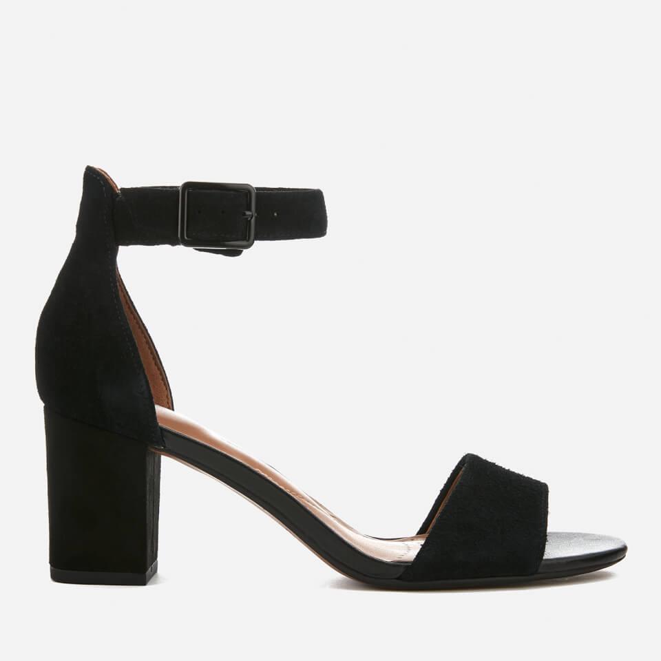 Clarks Women s Deva Mae Suede Blocked Heeled Sandals - Black Womens  Accessories  1ea87e264b