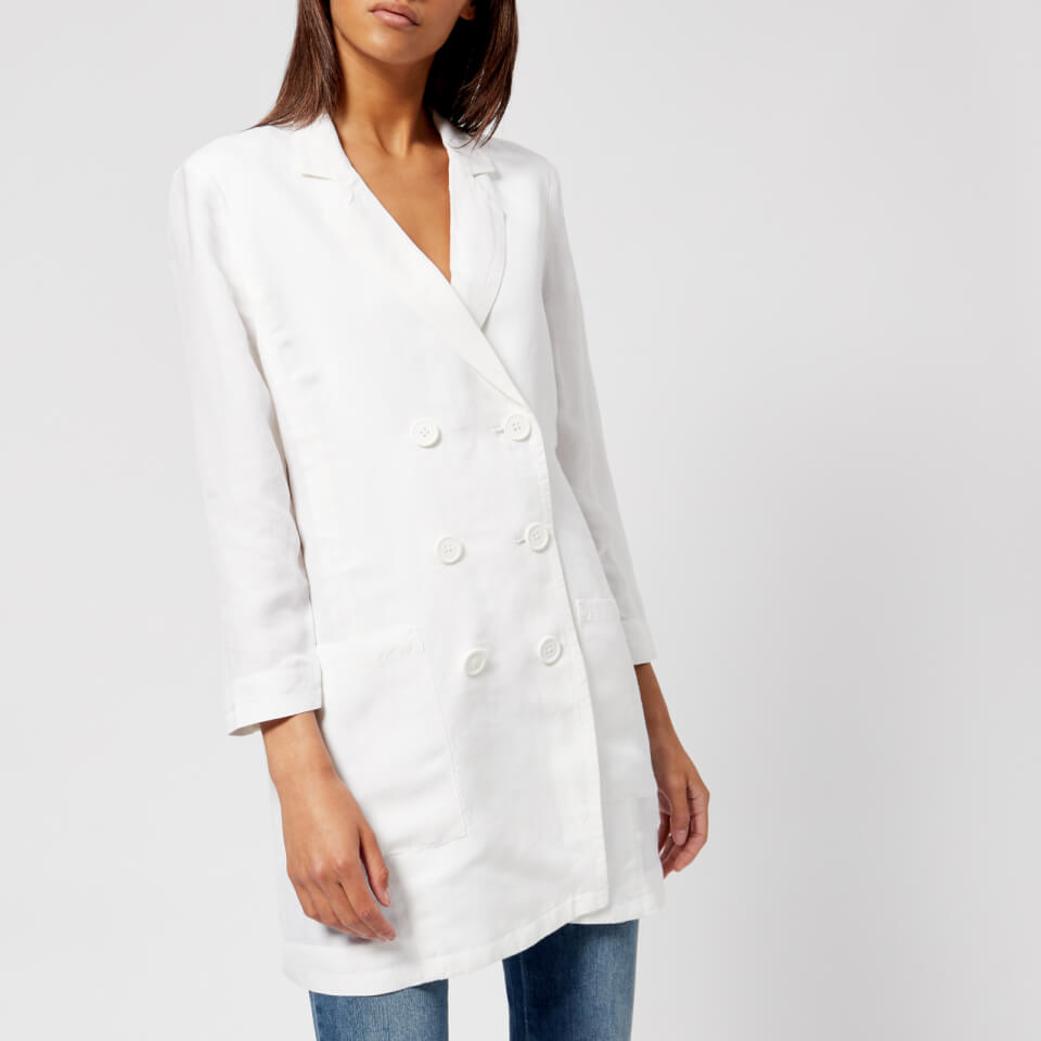 Armani Exchange Women S Double Breasted Blazer White