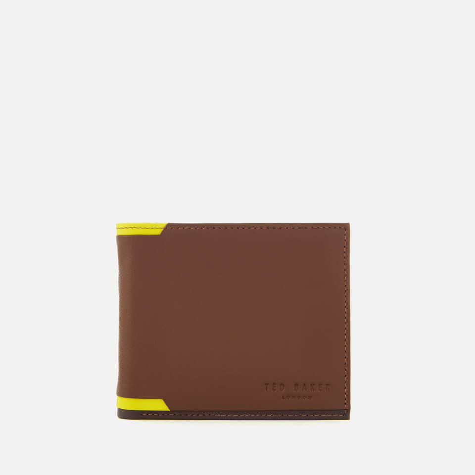a4561a809c89fb Ted Baker Men s Baldi Corner Detail Bifold Wallet - Tan
