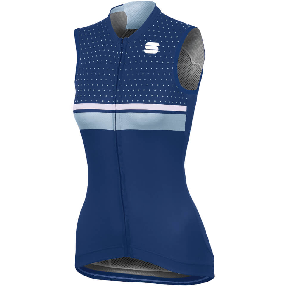 Sportful Women's Diva Sleeveless Jersey - Blue Twilight/White/Cerulean | Jerseys