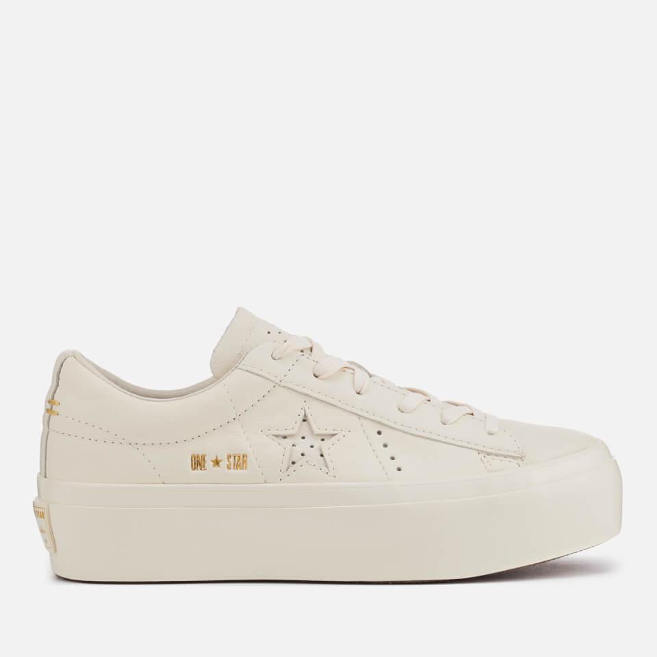 Converse Women s One Star Platform Ox Trainers - Egret Womens Footwear  bf35e11f3
