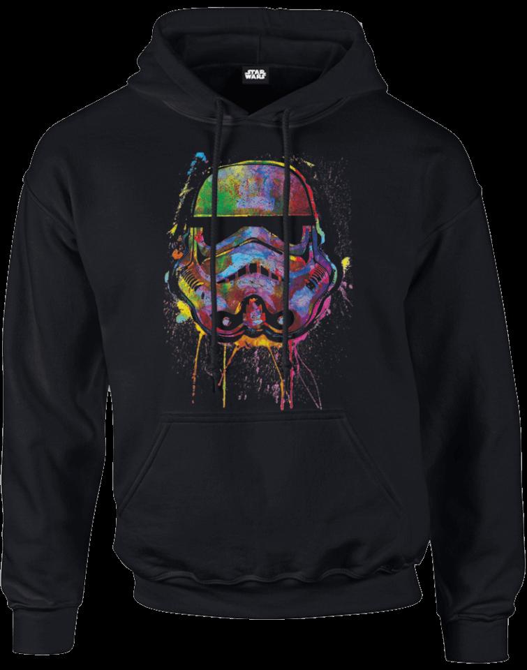 star wars paint splat stormtrooper hoodie schwarz sowia. Black Bedroom Furniture Sets. Home Design Ideas