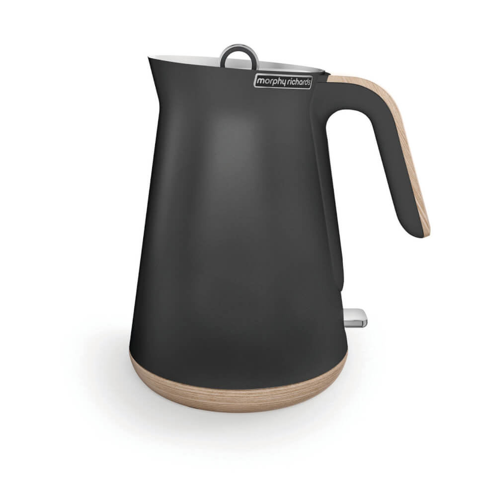 Morphy Richards Aspect Steel Jug Kettle - Titanium/Wood
