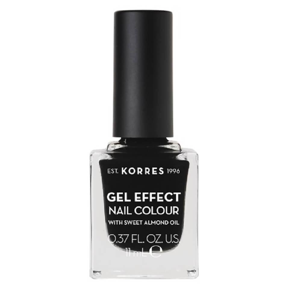 Korres Natural Gel Effect Nail Colour   Black 11ml by Korres