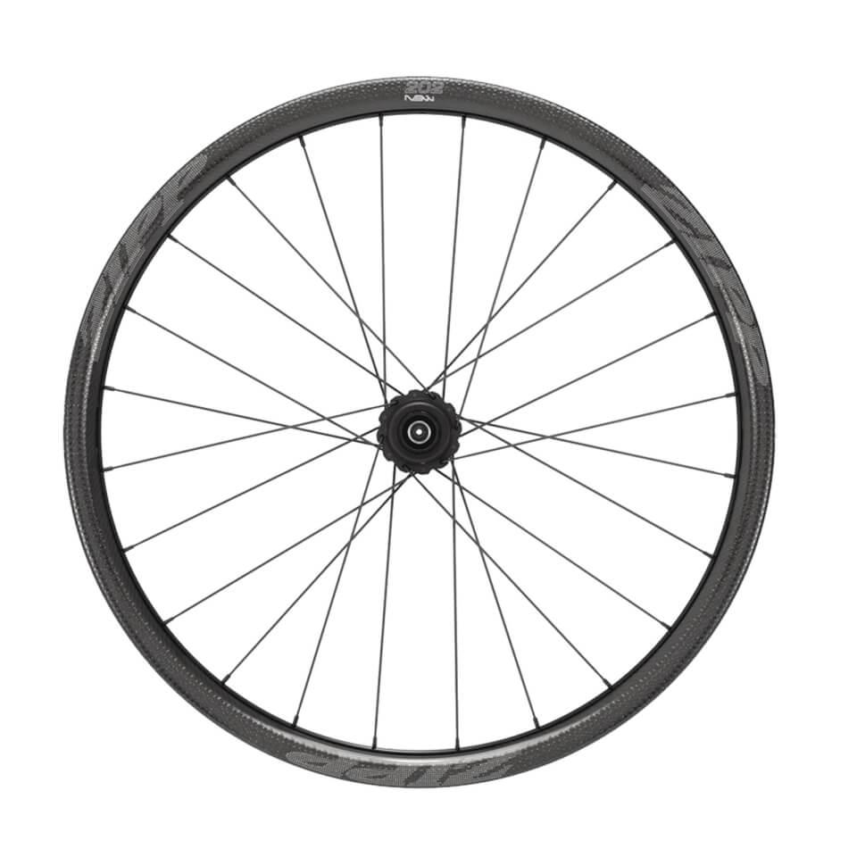 Zipp 202 NSW Carbon Clincher Tubeless Disc Brake Rear Wheel | Bremseskiver og -klodser