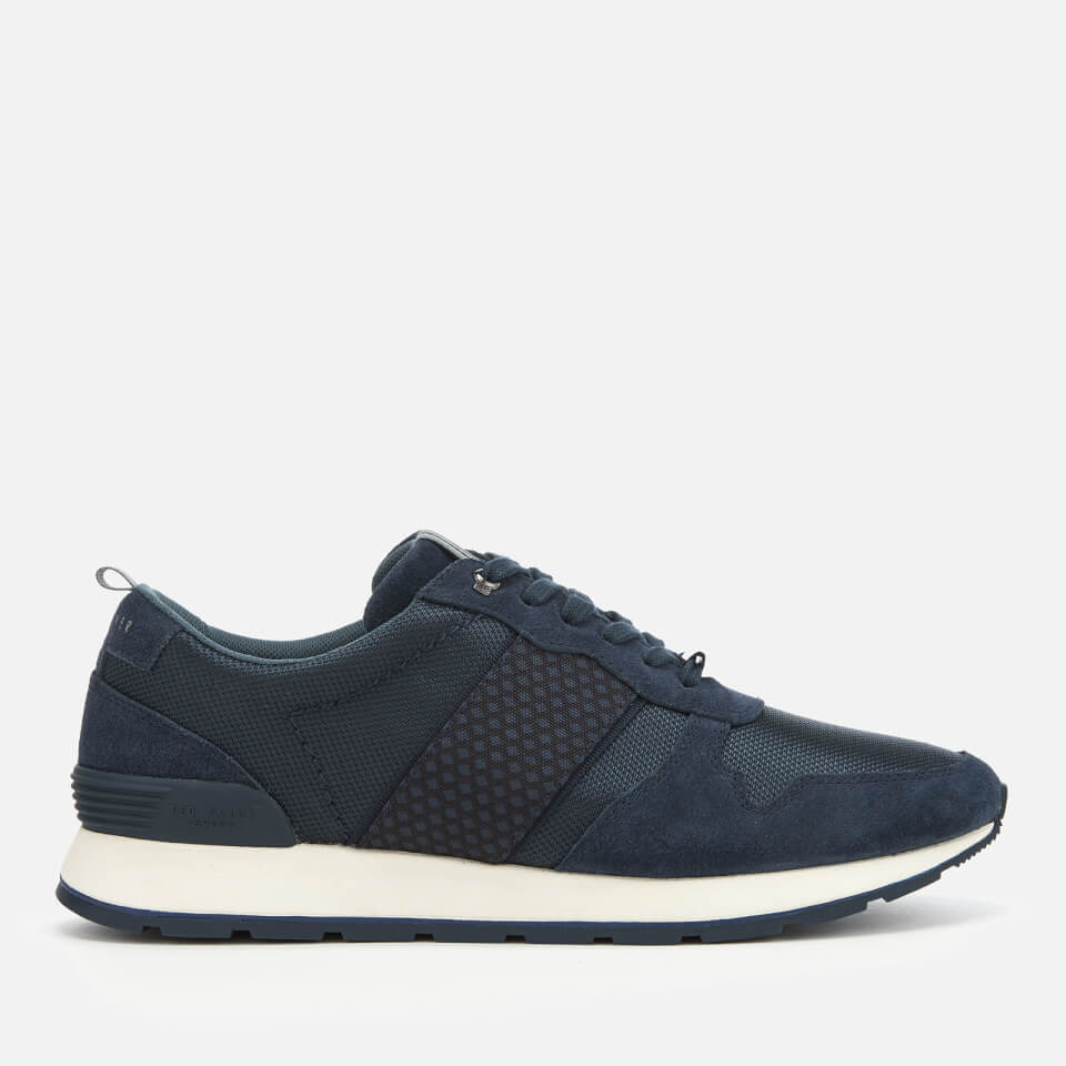 e0155dc75a97d Ted Baker Men s Hebey Runner Style Trainers - Dark Blue Mens Footwear