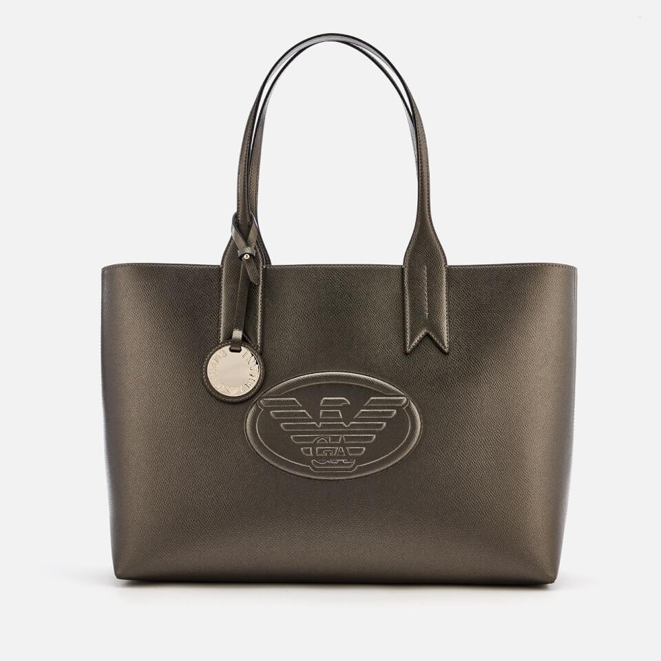 7da2f3246e96 Emporio Armani Women s Freda Logo Eagle Tote Bag - Gun Metal Clothing