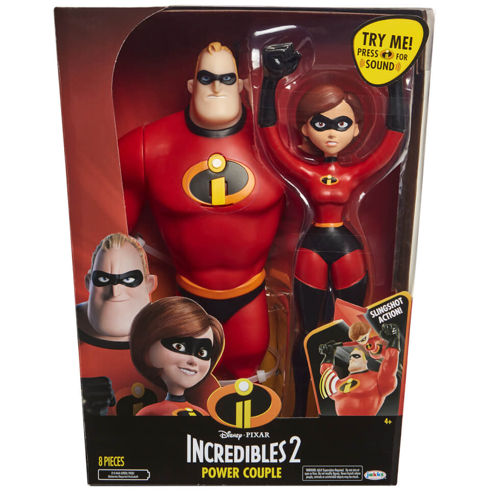 Jakks Pacific Disney Incredibles 2 12 Inch Mrs And Mr