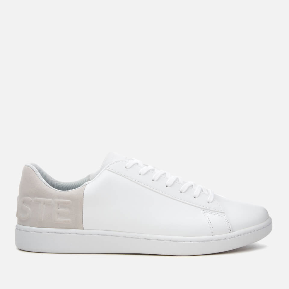 669b3b7785cdc8 Lacoste Men s Carnaby Evo 318 6 Leather Suede Trainers - White Light Grey  Mens Footwear