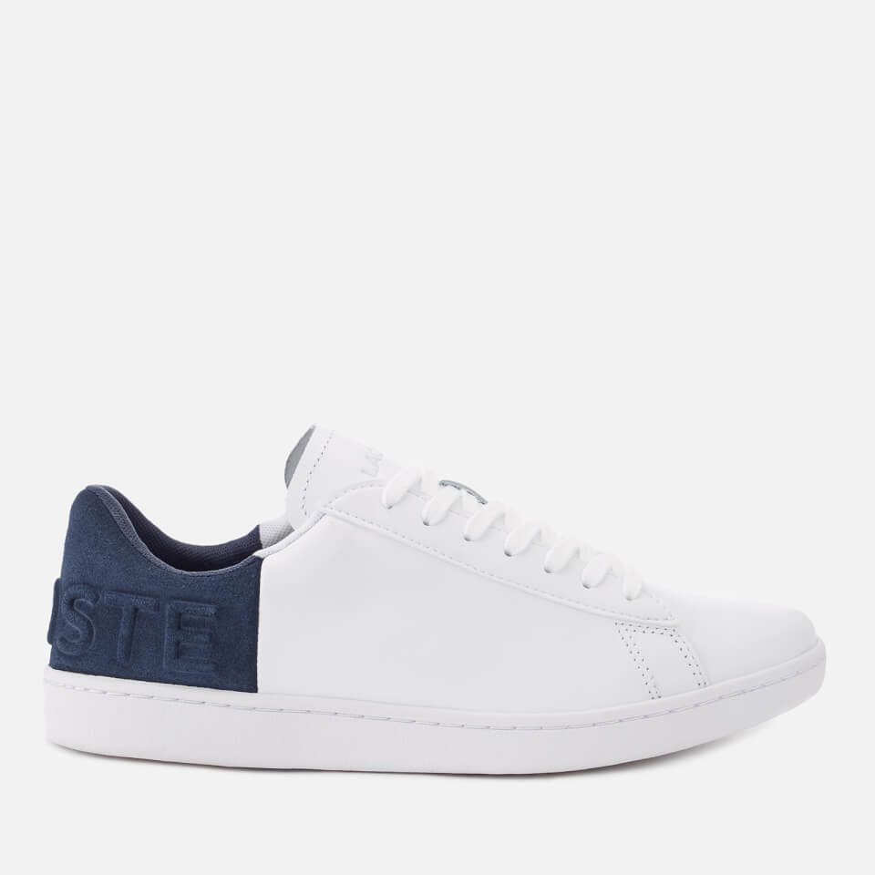 c5901356 Lacoste Women's Carnaby Evo 318 3 Leather/Suede Trainers - White/Navy