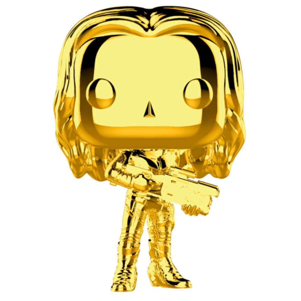 Marvel Ms 10 Gamora Gold Chrome Pop Vinyl Figure Pop In