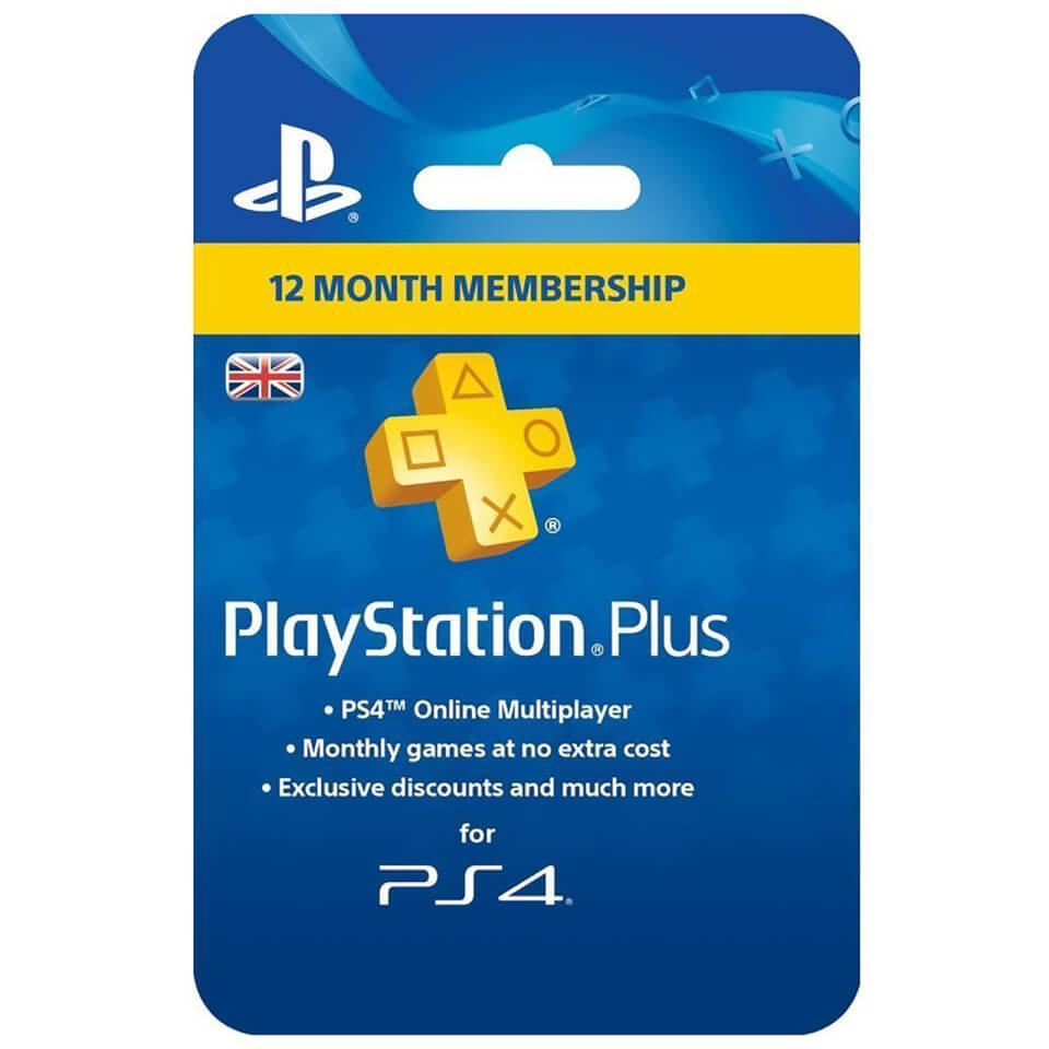 Playstation Plus 12 Month Membership Games Accessories Zavvi