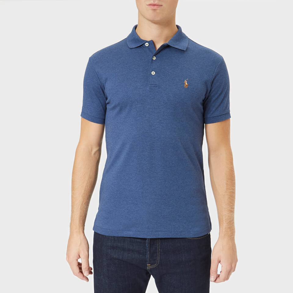 Polo Ralph Lauren Men s Pima Short Sleeve Polo Shirt - Rustic Navy Heather  - Free UK Delivery over £50 4b13fe6b1