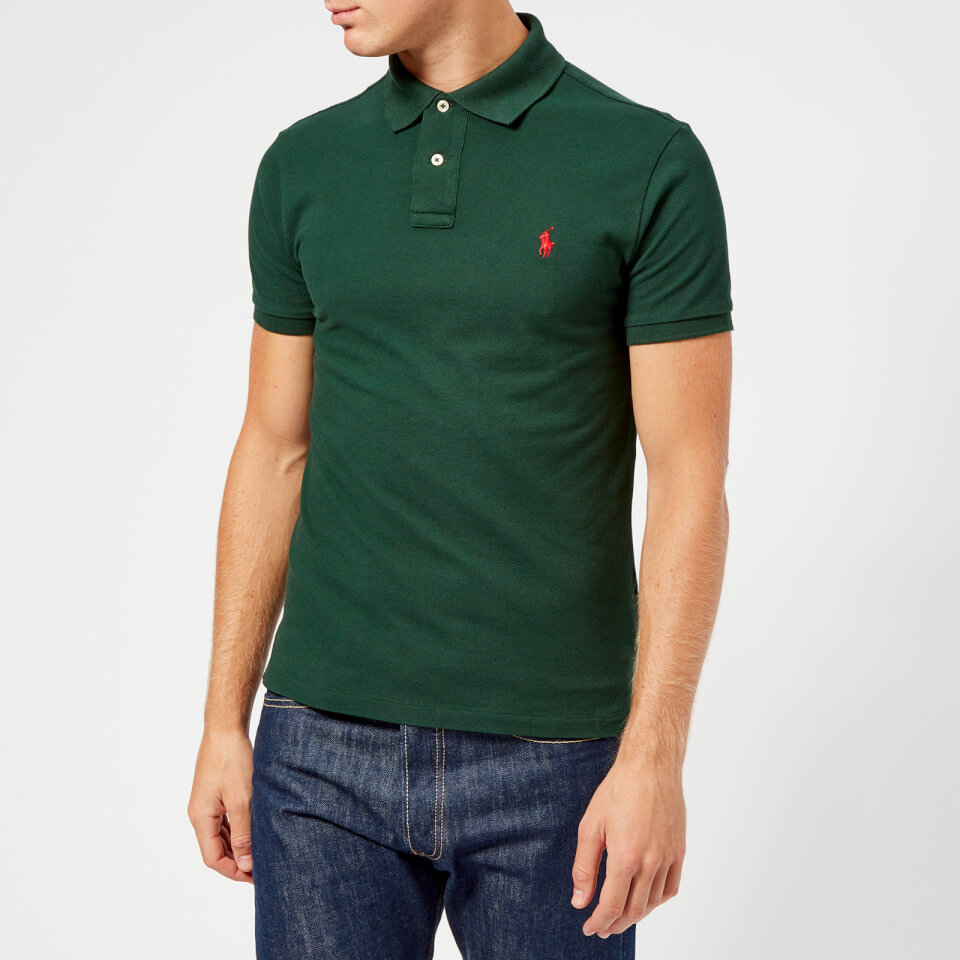 Polo Ralph Lauren Men s Slim Fit Short Sleeve Polo Shirt - College Green -  Free UK Delivery over £50 cbd4751e6