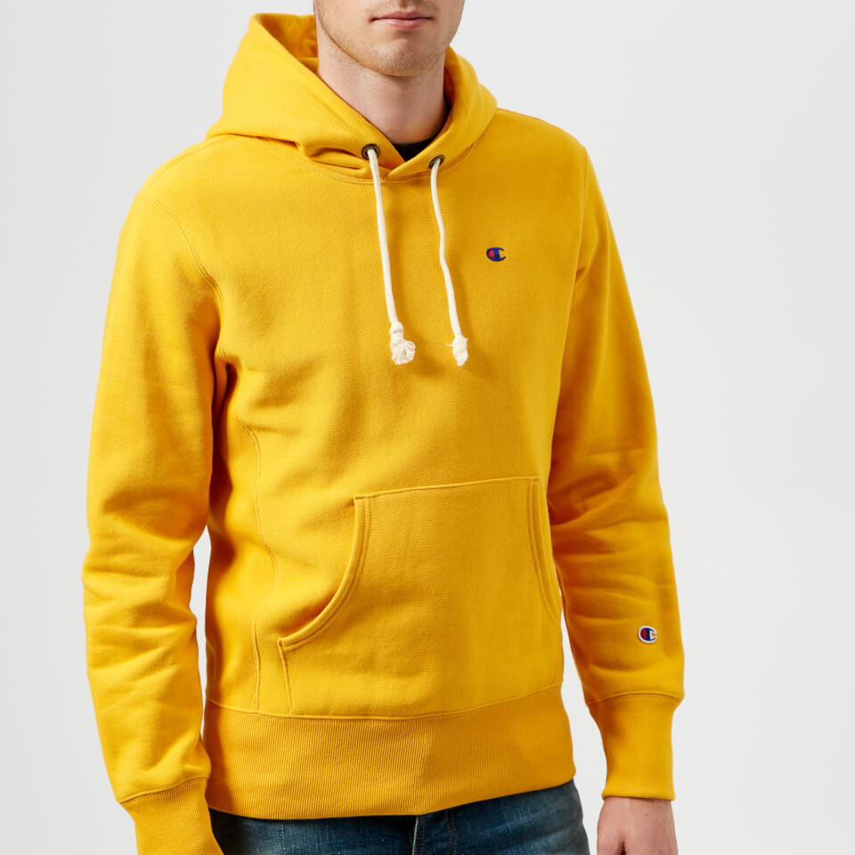 Champion Men S Overhead Hoodie Yellow Mens Clothing