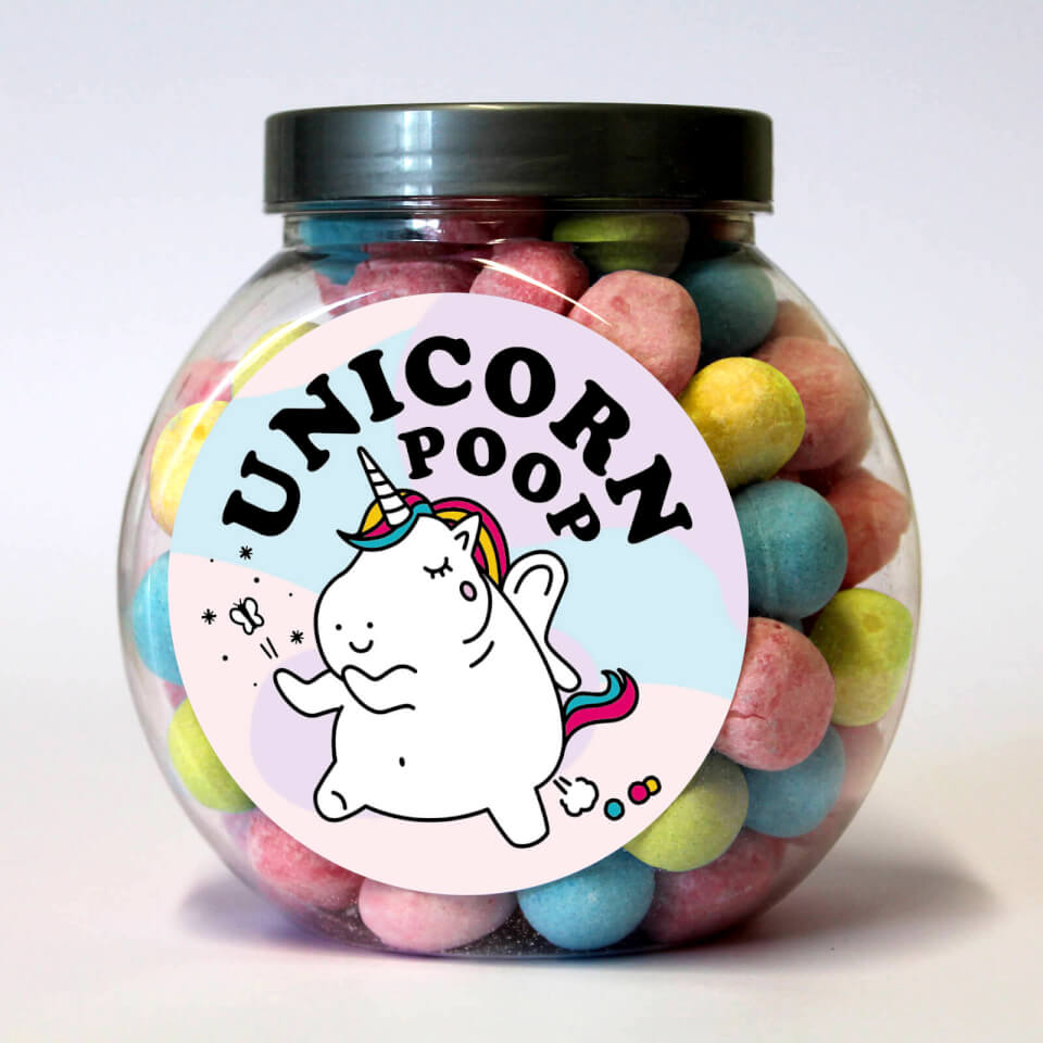 Unicorn Poop Bon Bon Jar
