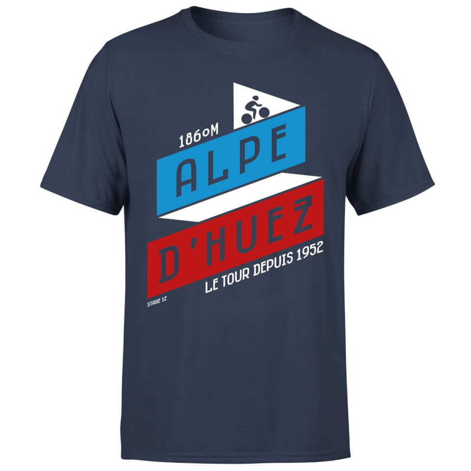 ALPE D'HUEZ Men's T-Shirt - Navy | Jerseys