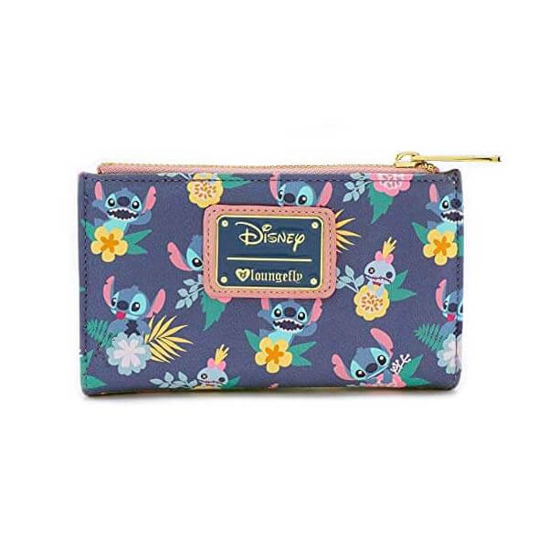 668ceceb435 Loungefly Disney Stitch And Scrump Floral Aop Wallet