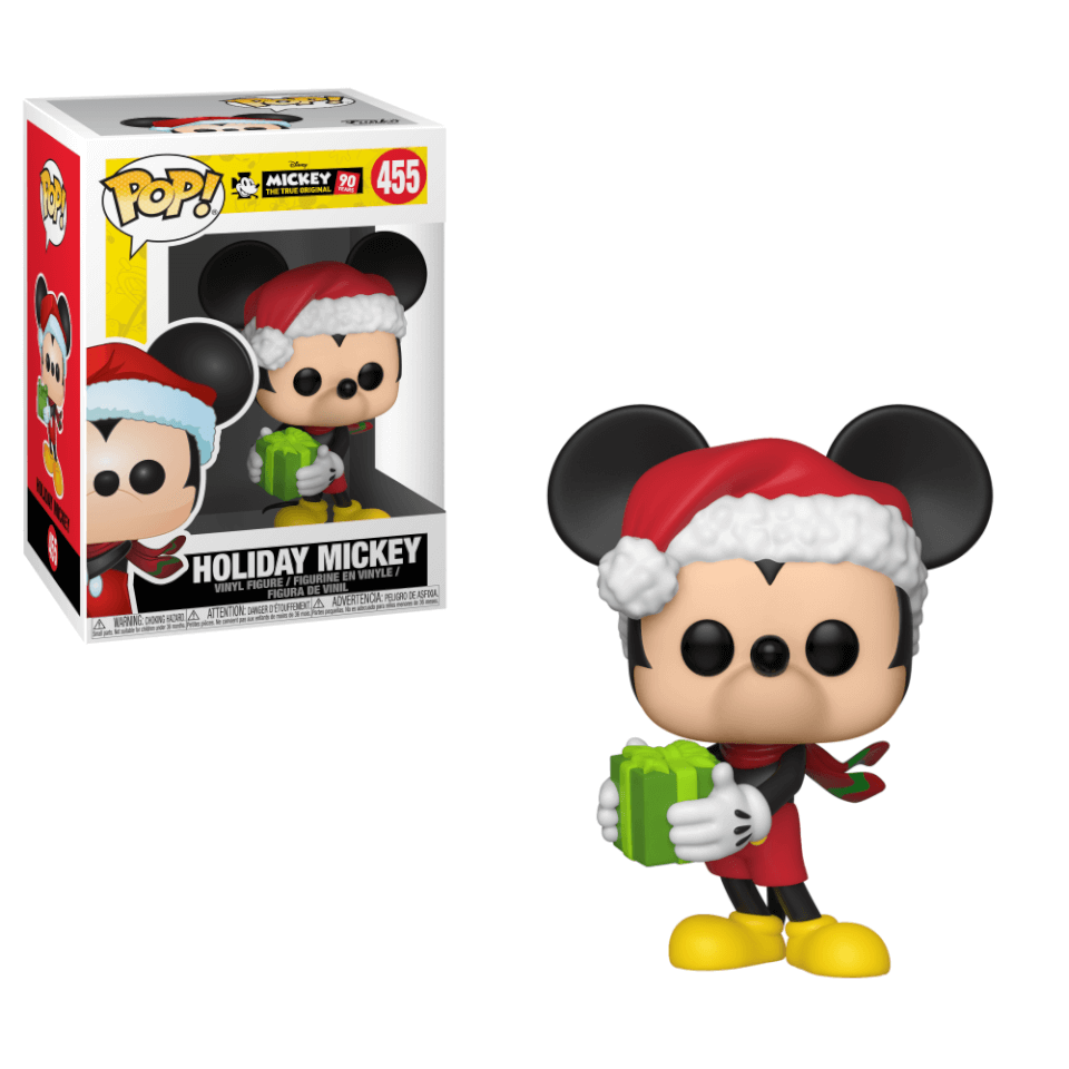 Disney Mickey S 90th Holiday Mickey Pop Vinyl Figure