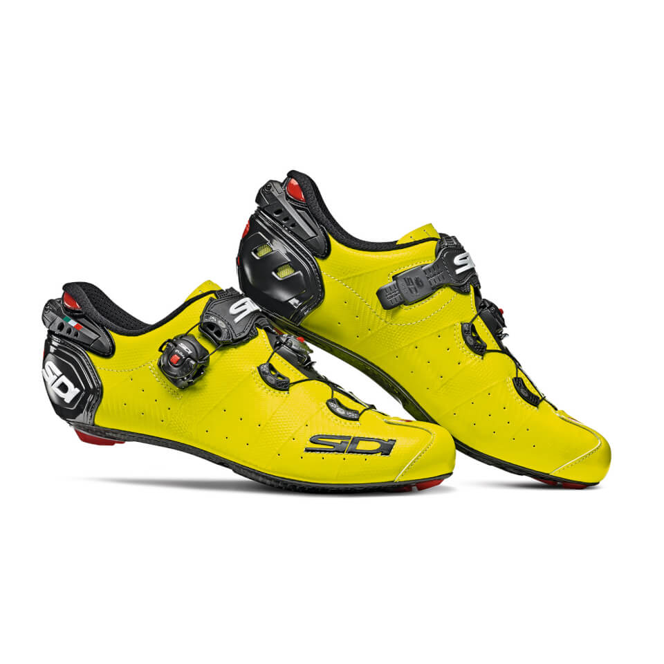 Sidi Wire 2 Carbon Road Shoe - yellow fluo/black | Shoes and overlays