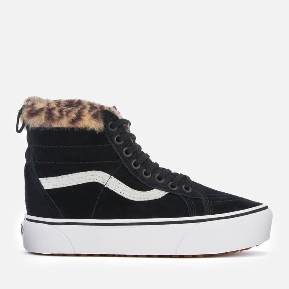 Vans Women's Sk8-Hi Platform Trainers MTE - Black/Leopard Fur