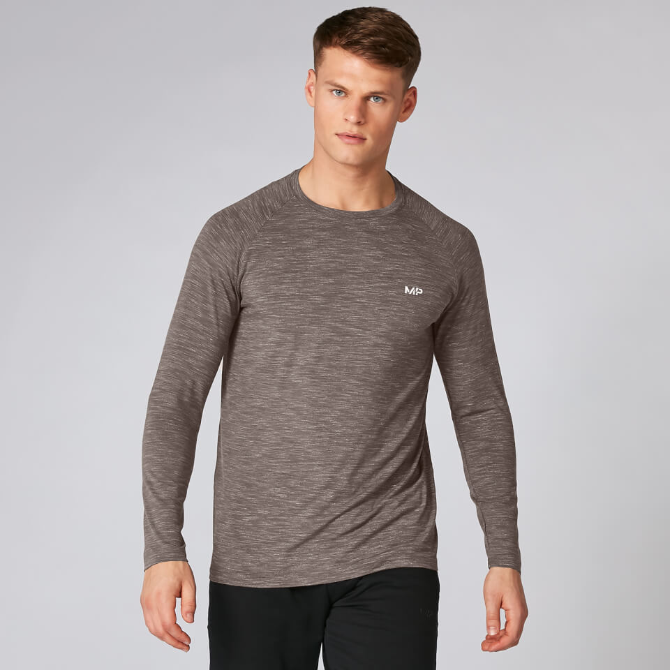 Myprotein Performance Long Sleeve T-Shirt - Driftwood Marl | Jerseys
