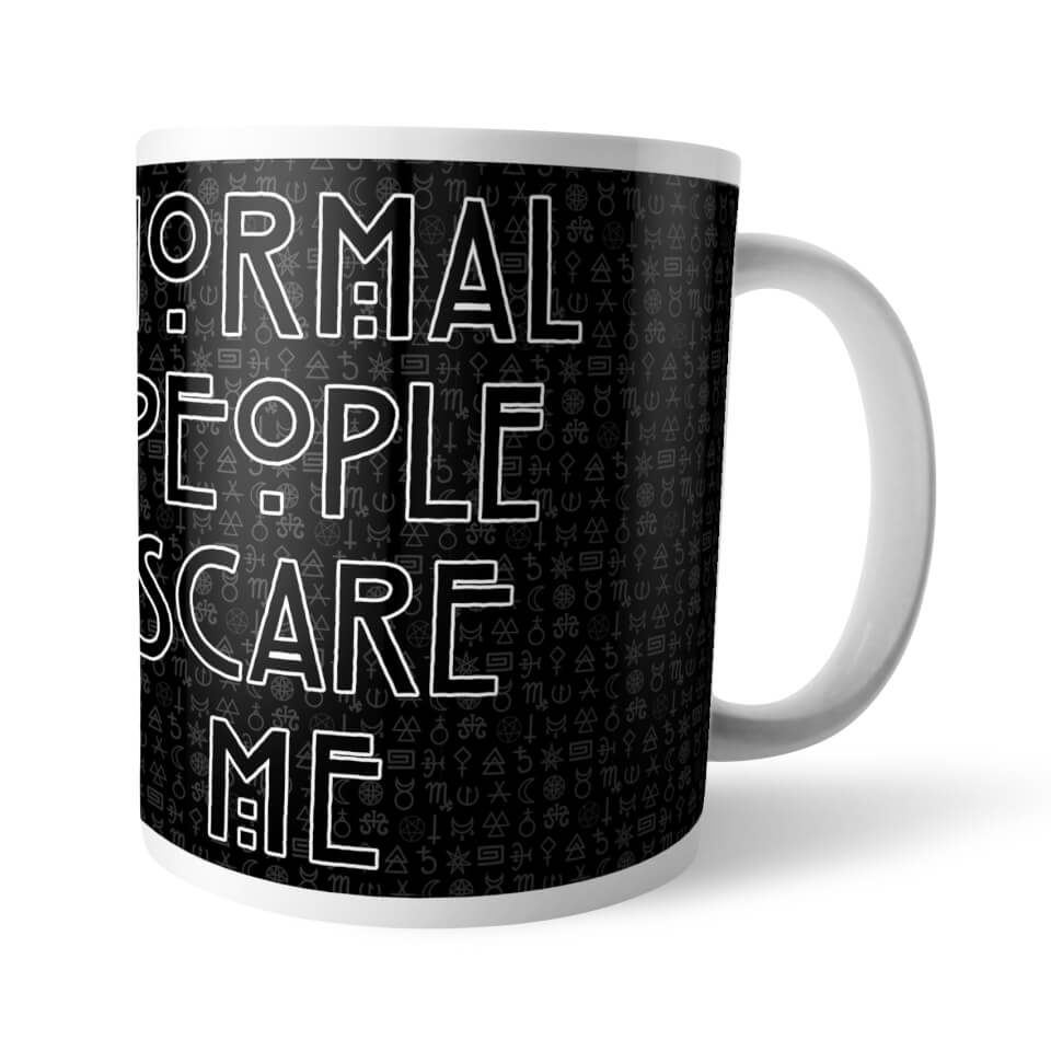 Horror Normal Me People Scare American Story Mug pqUGMzSV