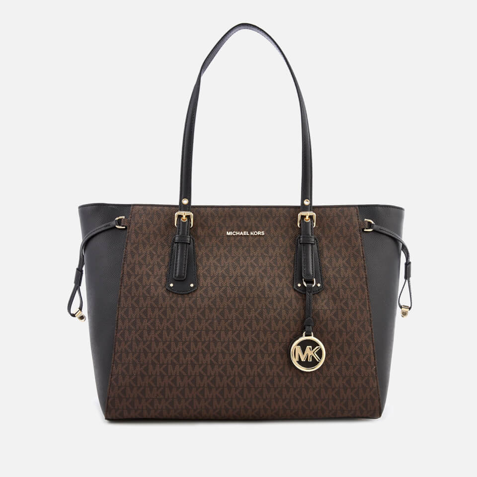 b44de9ae193d MICHAEL MICHAEL KORS Women's Voyager Tote Bag - Brown/Black