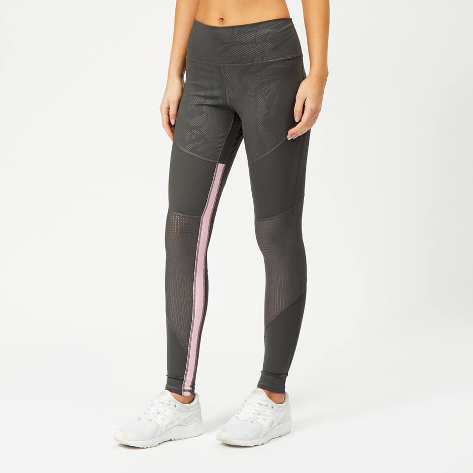 adidas Women's Believe This Floral Long Tights - Grey Six | Trousers