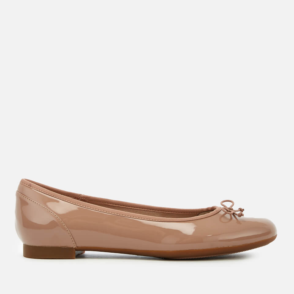 199d3f7096ce Clarks Women s Couture Bloom Patent Leather Ballet Pumps - Nude Womens  Footwear