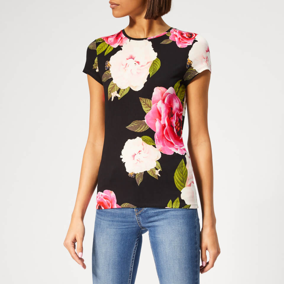 1ae129620 Ted Baker Women s Alanyo Magnificent Fitted T-Shirt - Black Womens Clothing