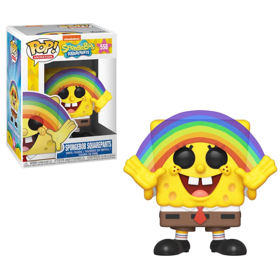 Spongebob S3 Spongebob With Rainbow Animation Pop Vinyl