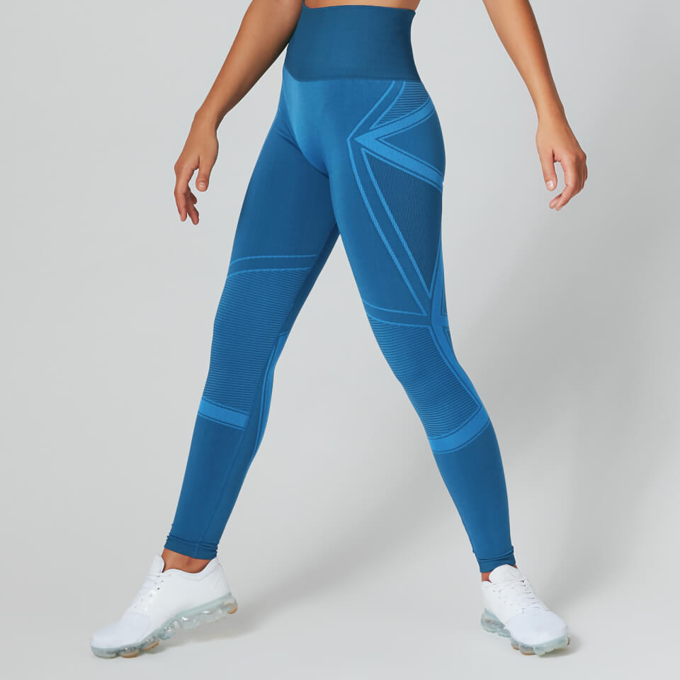 Impact Seamless Leggings - Marineblauw