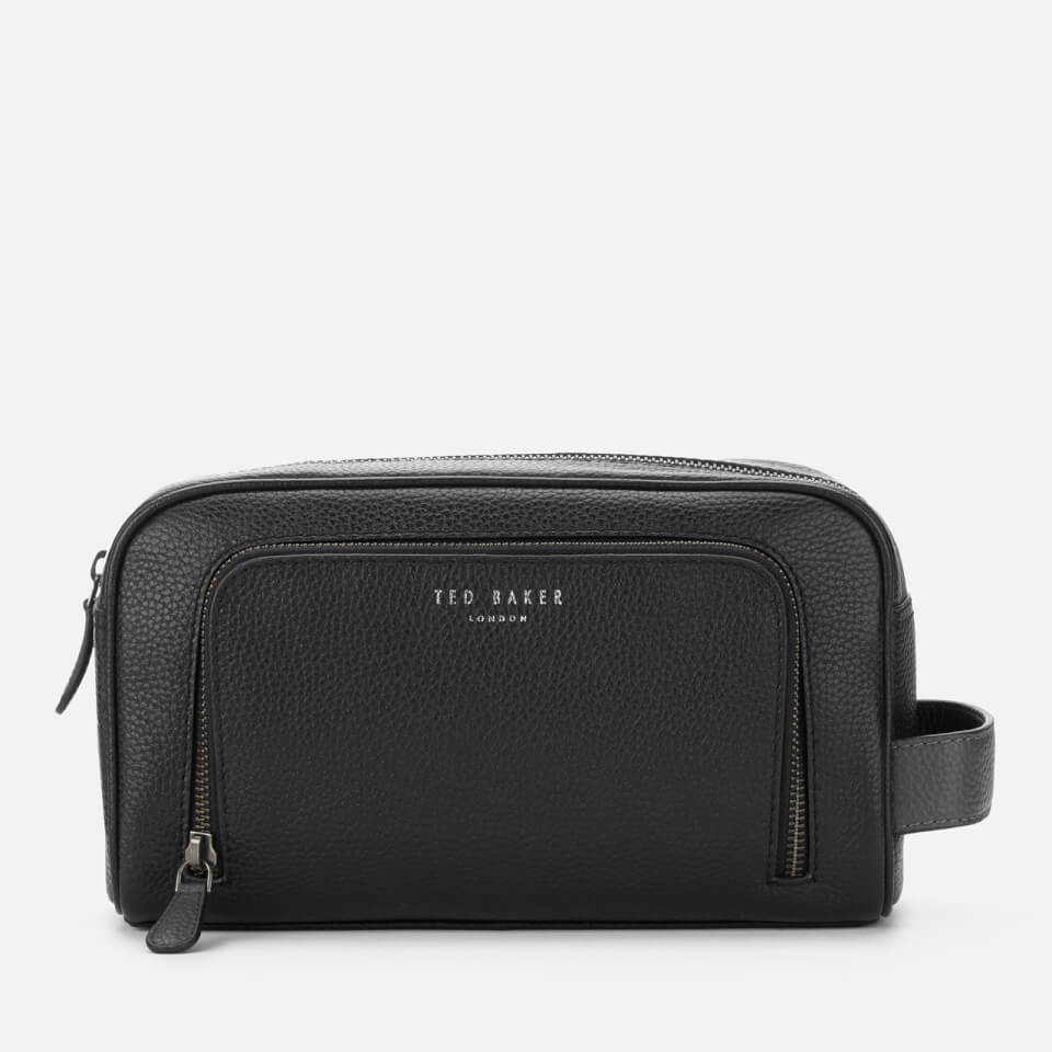 Ted Baker Men s Razor Leather Wash Bag - Black a7116ad7bfd7b