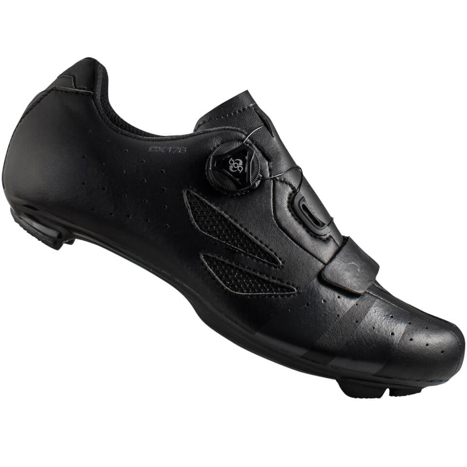 Lake CX176 Road Shoes - Black/Grey   Shoes and overlays