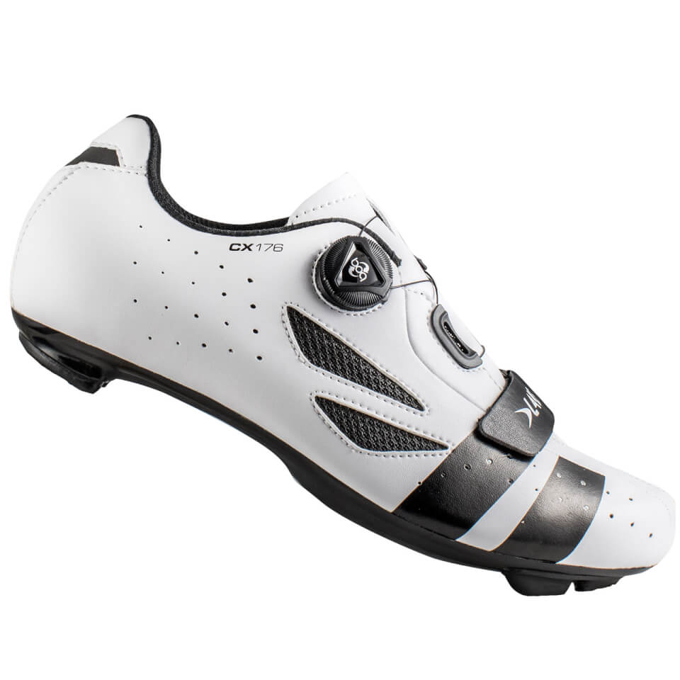 Lake CX176 Road Shoes - White/Black | Shoes and overlays