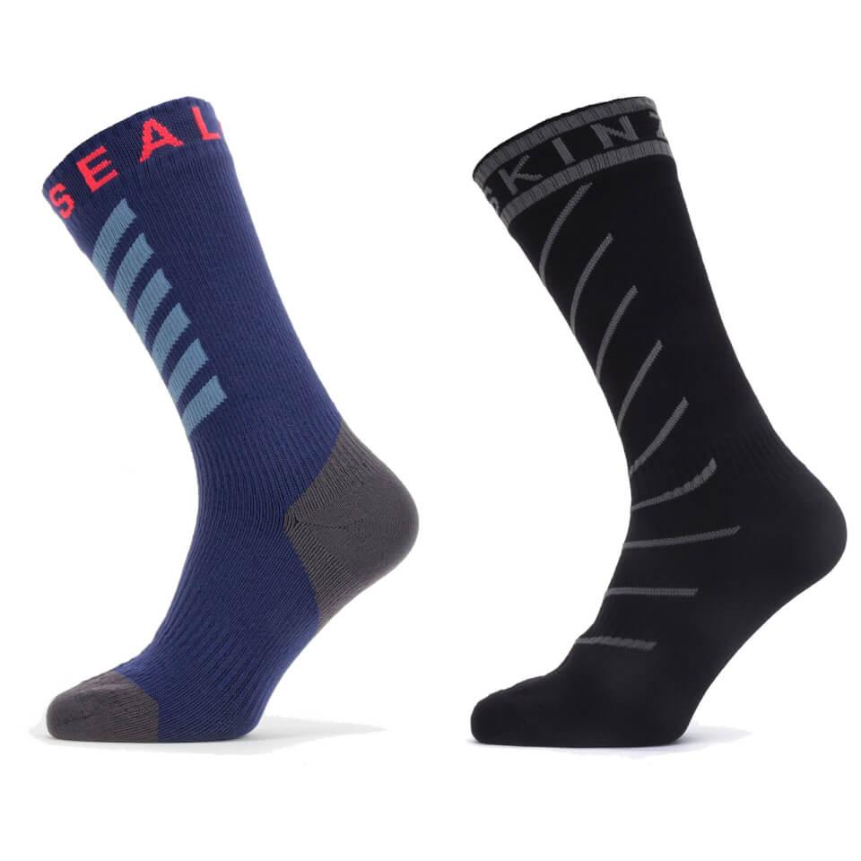 Sealskinz Warm Weather Mid Length Socks with Hydrostop | Strømper