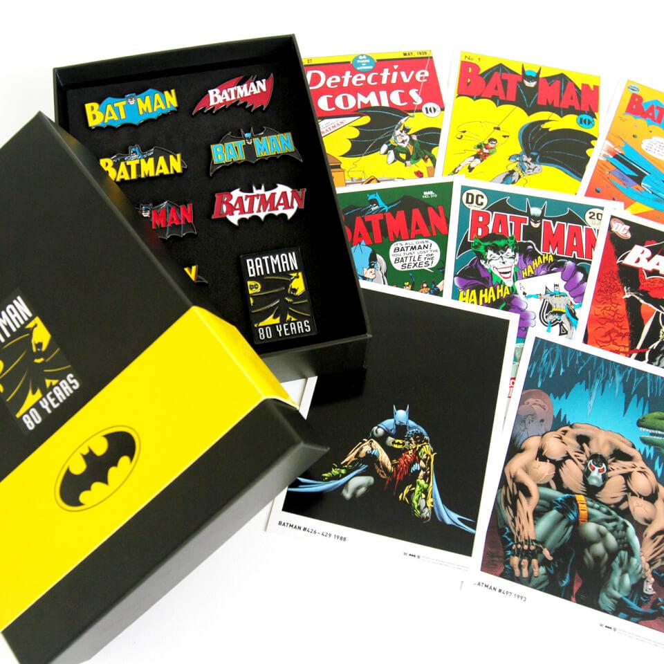Batman 80th Anniversary Pin Badge Amp Art Card Set Clothing
