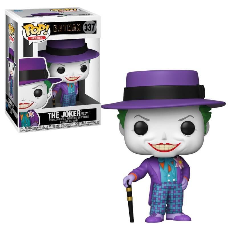 Dc Comics Batman 1989 Joker With Hat Funko Pop Vinyl Pop In A Box Us