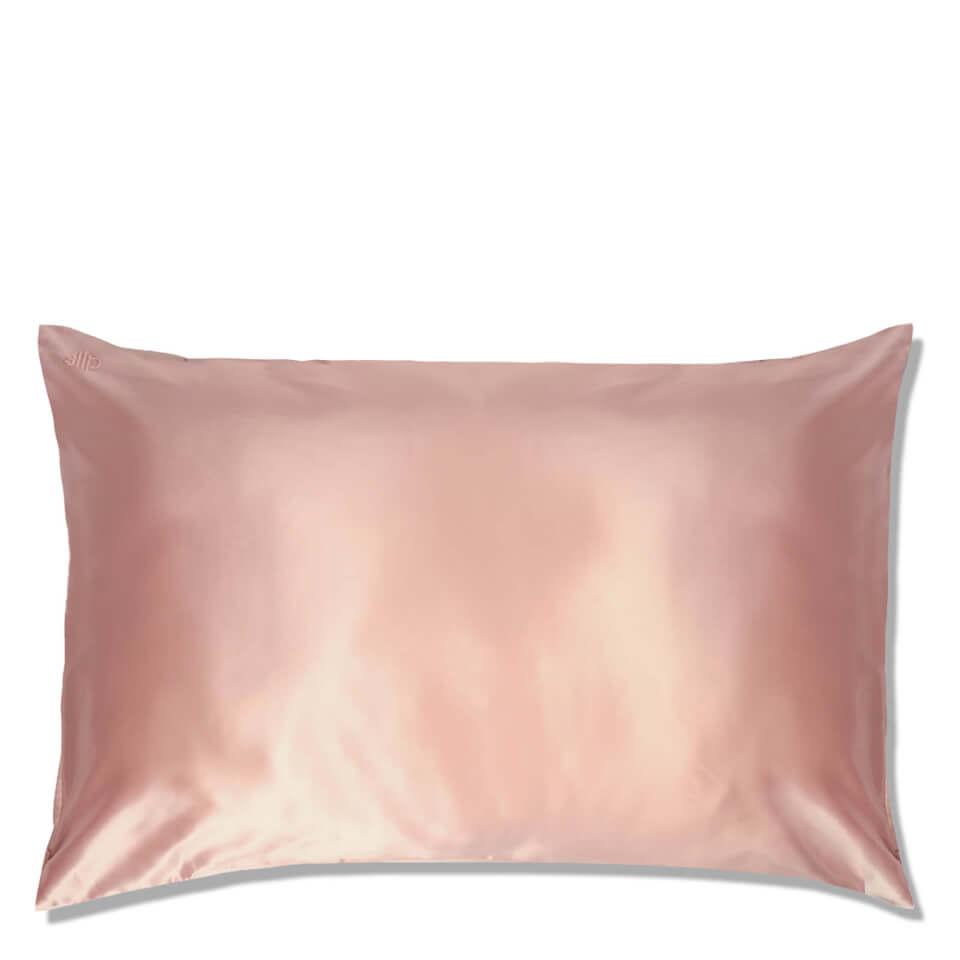 SLIP Pink Marble Silk Pillowcase
