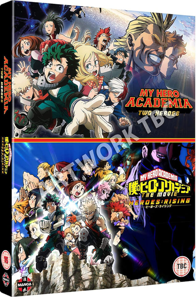 My Hero Academia Movie Double Pack Two Heroes Heroes Rising Dvd Zavvi Uk