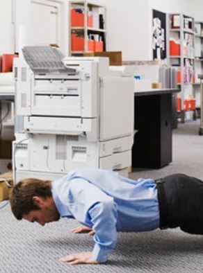 The Co-Worker Drop – The Ultimate Office Workout
