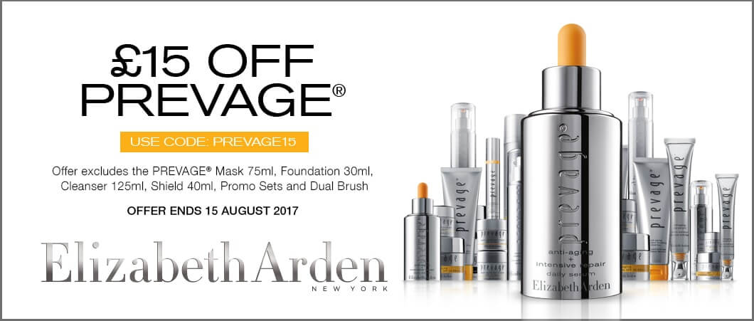 Elizabeth Arden £15 off Prevage July 2017