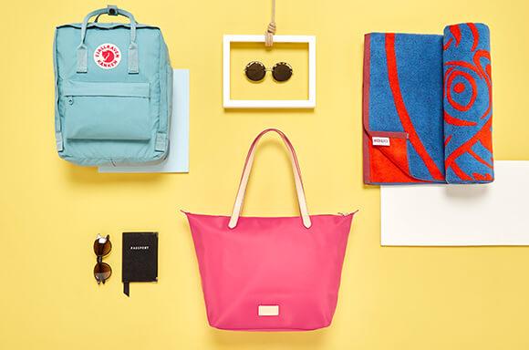 Beach Bags, Towels and Backpacks
