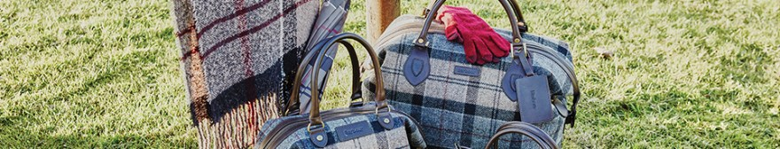 Barbour tartan bags scarves and gloves