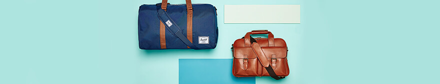 Herschel and Aspinal leather holdall
