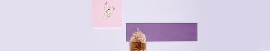 pom pom fur keyring and Vivienne Westwood keyring