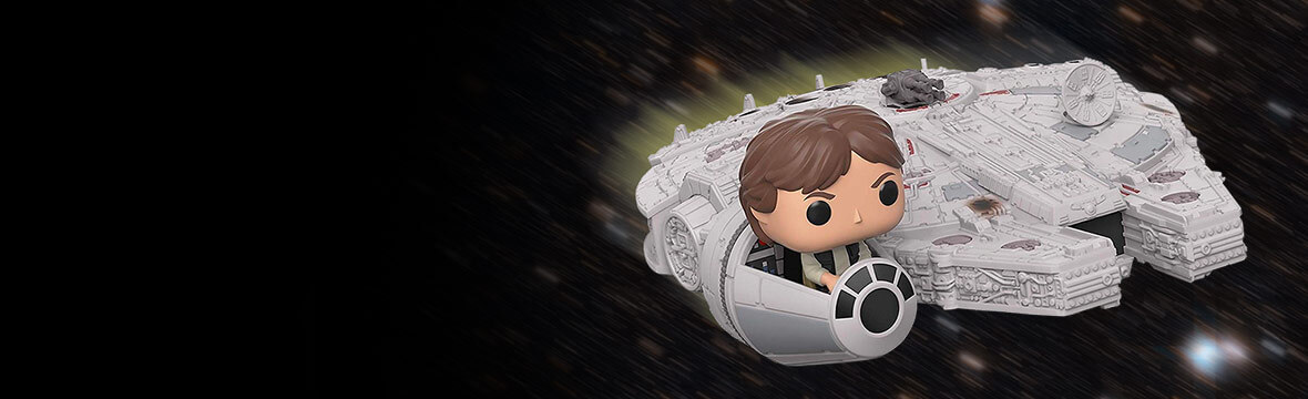 HAN SOLO AND MILLENNIUM FALCON POP! DELUXE NOW LIVE!
